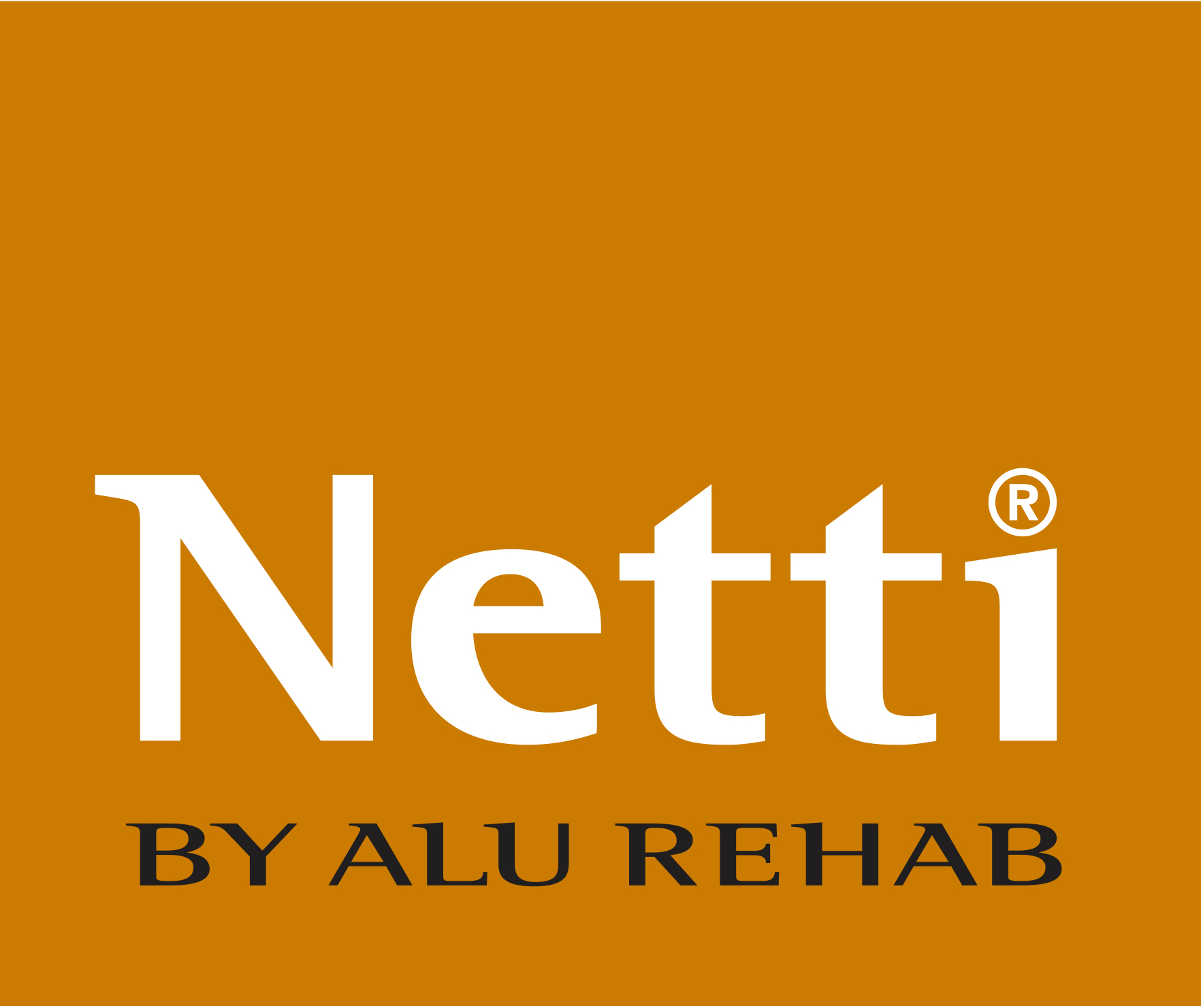 NettiByAluRehab_LOGO_Yellow_pantone 138 C and Black